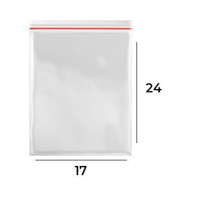 Saco Zip Lock 17 x 24 - N8
