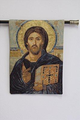 Tapeçaria Cristo Pantocrator - Ícone do 5° século