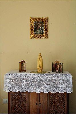 Toalha com Barrado de Renda Agnus Dei