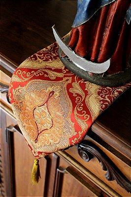 Flâmula e Porta Santo de Jackard Vermelho