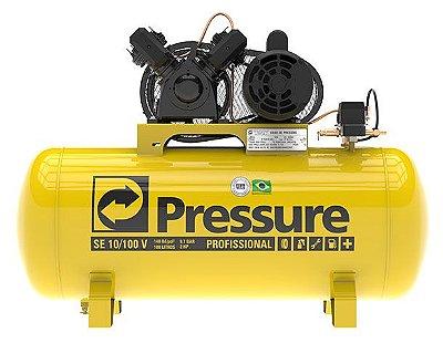 Compressor de Ar 2CV 10 Pés 100 Litros 110/220V PRESSURE-SE10/100V