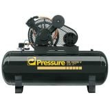 Compressor 20 pés 200 litros 175 libras 2 pistões Trifásico Pressure