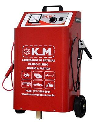 Carregador de Bateria Profissional 100A/2B 12/24V  Rapido/Lenta/Auxiliar