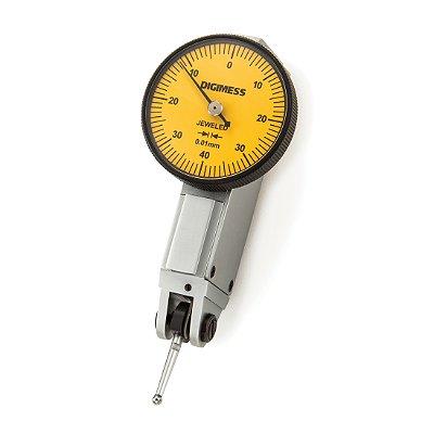 Relógio Apalpador Capacidade 0,8mm - mostrador: 30mm - Graduação: 0,01mm Digimess