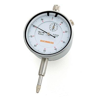 Relógio Comparador Graduação de 0,01mm e Capacidade: 0-10mm Digimess