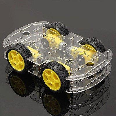 Kit Chassi 4WD Robô para Arduino