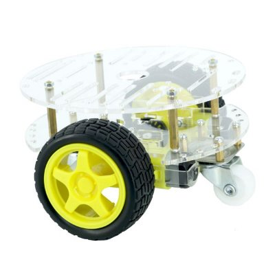 Kit Chassi Redondo 2WD Robô
