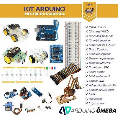 Kit Arduino Mestre da Robótica