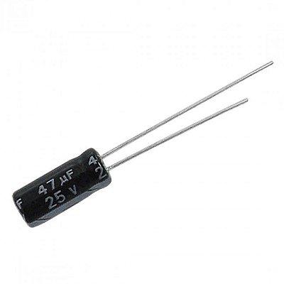 Capacitor Eletrolítico 47uF x 25V