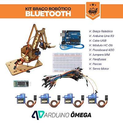 Kit Braço Robótico MDF Bluetooth Completo