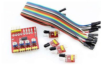 Módulo Sensor  Rastreamento de Linha infravermelho 4 Sondas