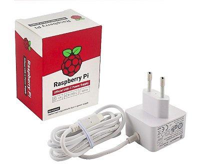 Fonte Oficial Rasbperry Pi 4 USB-C