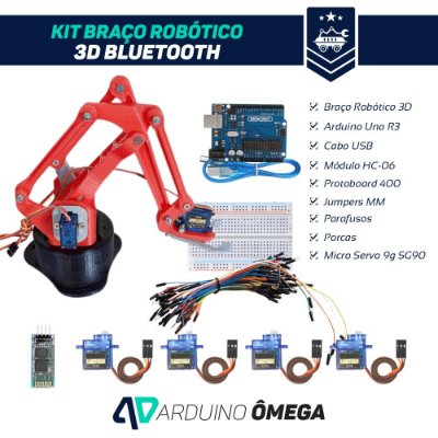 Kit Braço Robótico 3D Bluetooth