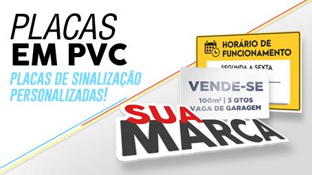 Placas em PVC
