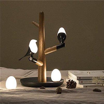 Luminária de mesa decorativa Birds