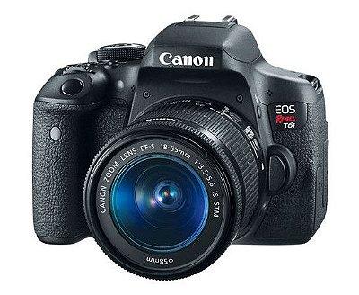 Câmera Canon EOS Rebel T6i – EF-S 18-55 IS STM - KIT