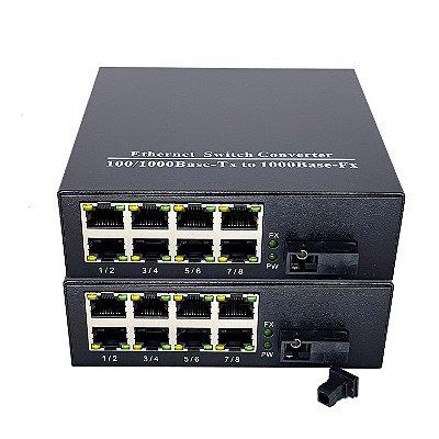 Switch 10/100 - 8 Portas - WDM - PAR (A + B)