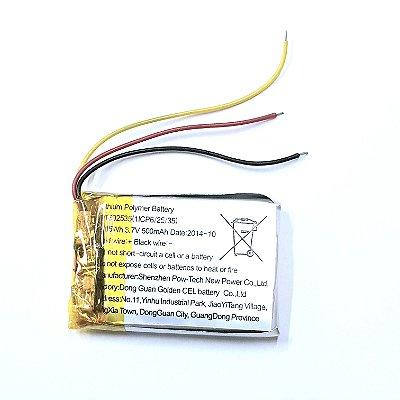 Bateria Polímero Lítio 500mha 3,7v 3 Fios