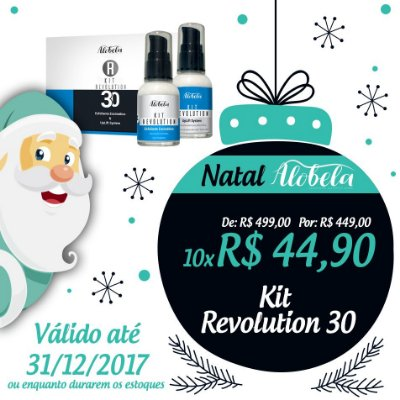 Kit Revolution 30 Natal – Peeling e Lifting Facial com Preenchimento de Rugas