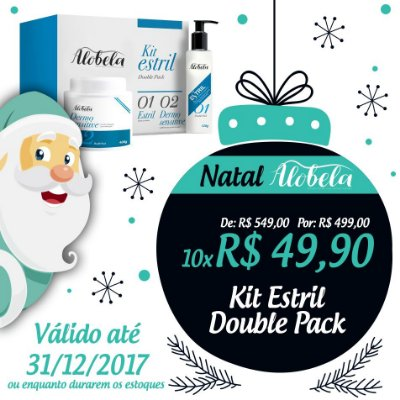 Kit Estril Double Pack Natal- Creme Anti Estrias Double Pack