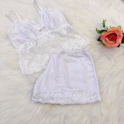 Baby Doll cropped branco
