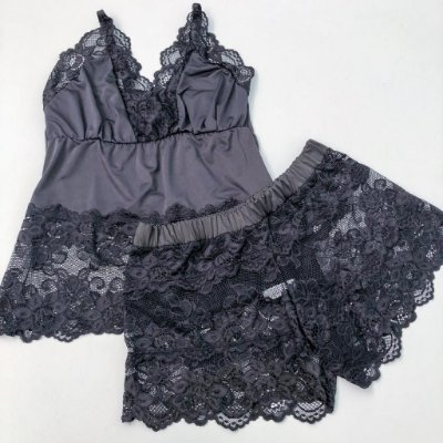 Baby Doll Preto Short Transparente