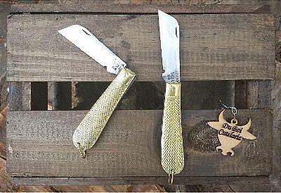 Canivete de Cabo Dourado Tipo Corneta