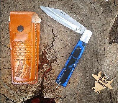 Canivete Churrasqueiro Cabo Acrílico Com Bainha