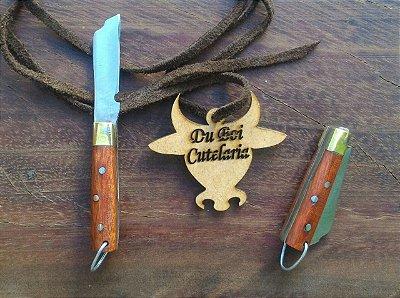 Mini Canivete Cabo de Madeira