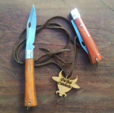 Canivete Tradicional Cabo de Madeira Com Ponta