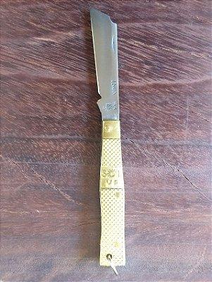 Canivete Tipo Corneta Pequeno Dourado