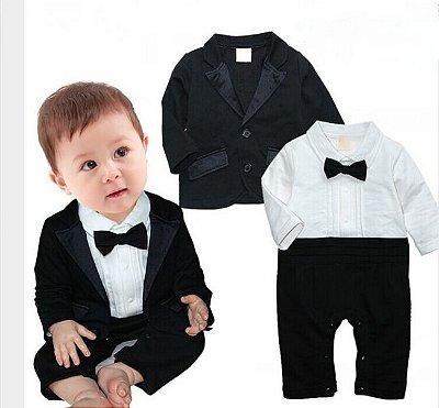 Terno de Bebê Macacão + Blazer