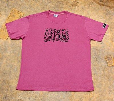 Camiseta Vida - Rosé