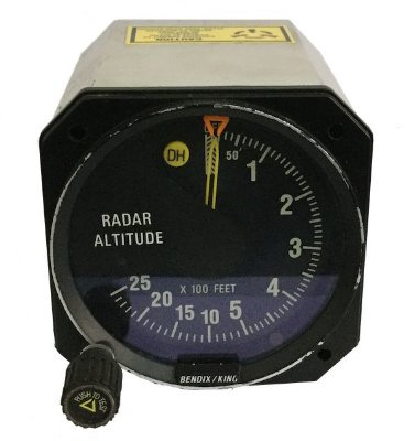 RADAR ALT INDICATOR - KI 250 - BENDIX KING