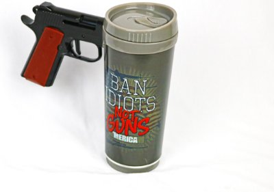 Caneca NTK  Ban Idiots Not Guns Pistol Mug