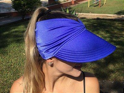 Viseira Turbante UV50+ cor Azul Royal