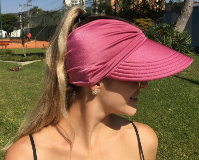Viseira Turbante UV50+ Premium cor Rosa Queimado