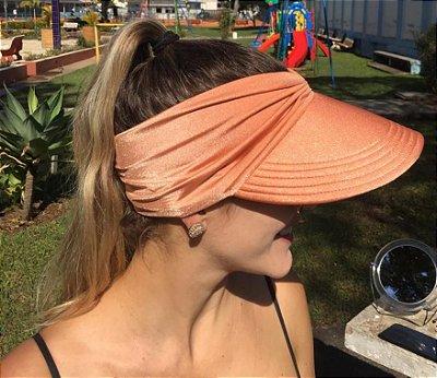 Viseira Turbante UV50+ Premium cor Papaya