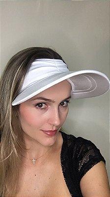 Viseira com Proteção UV50+ Classic cor Branca