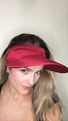 Viseira com Proteção UV50+ Classic cor Vermelha