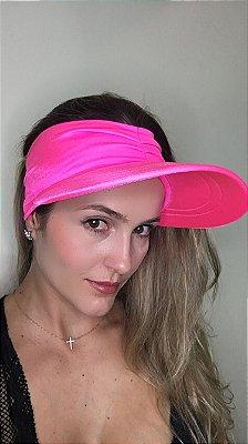 Viseira com Proteção UV50+ Classic cor Rosa Neon