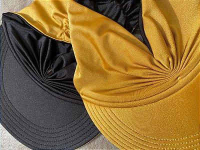 Viseira Turbante UV50+ DUPLA-FACE - Premium cor Dourada
