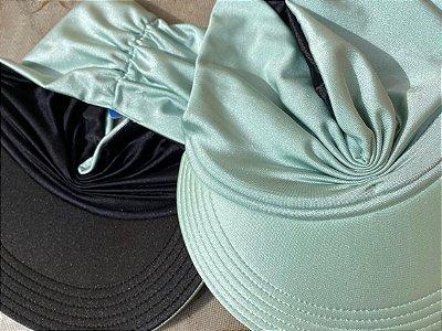 Viseira Turbante UV50+ DUPLA-FACE - Premium cor Verde Menta