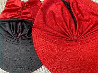 Viseira Turbante UV50+ DUPLA-FACE - Premium cor Vermelha