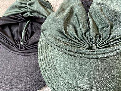 Viseira Turbante UV50+ DUPLA-FACE - Premium cor Verde Musgo