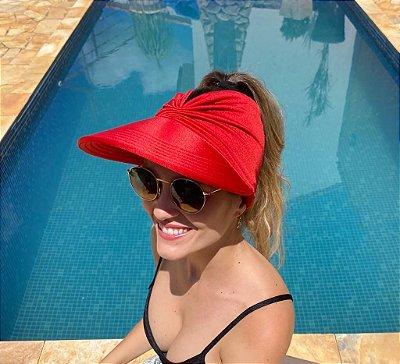 Viseira Turbante UV50+ Premium cor Vermelha