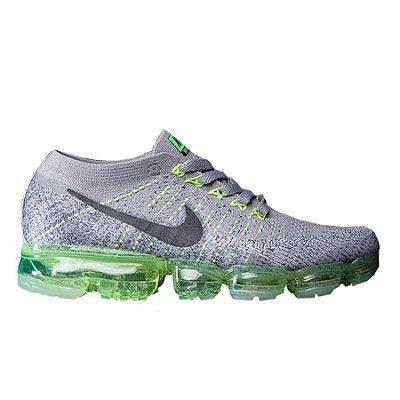 Tênis Nike Air Vapormax Flyknit Cinza e Verde