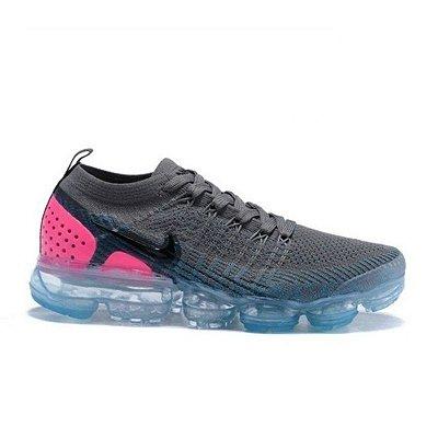 Tênis Nike Air Vapormax Flyknit 2 Cinza E Rosa