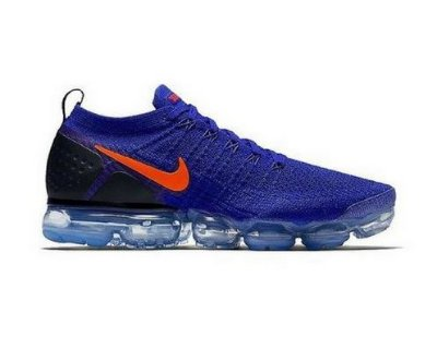 Tênis Nike Air Vapormax Flyknit 2 Azul e Laranja