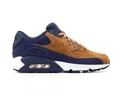 Tênis Nike Air Max 90 Marrom e Azul